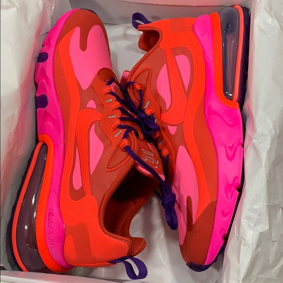 Nike Shoes Air Max 270 React Mystic Redbright Crimson Poshmark